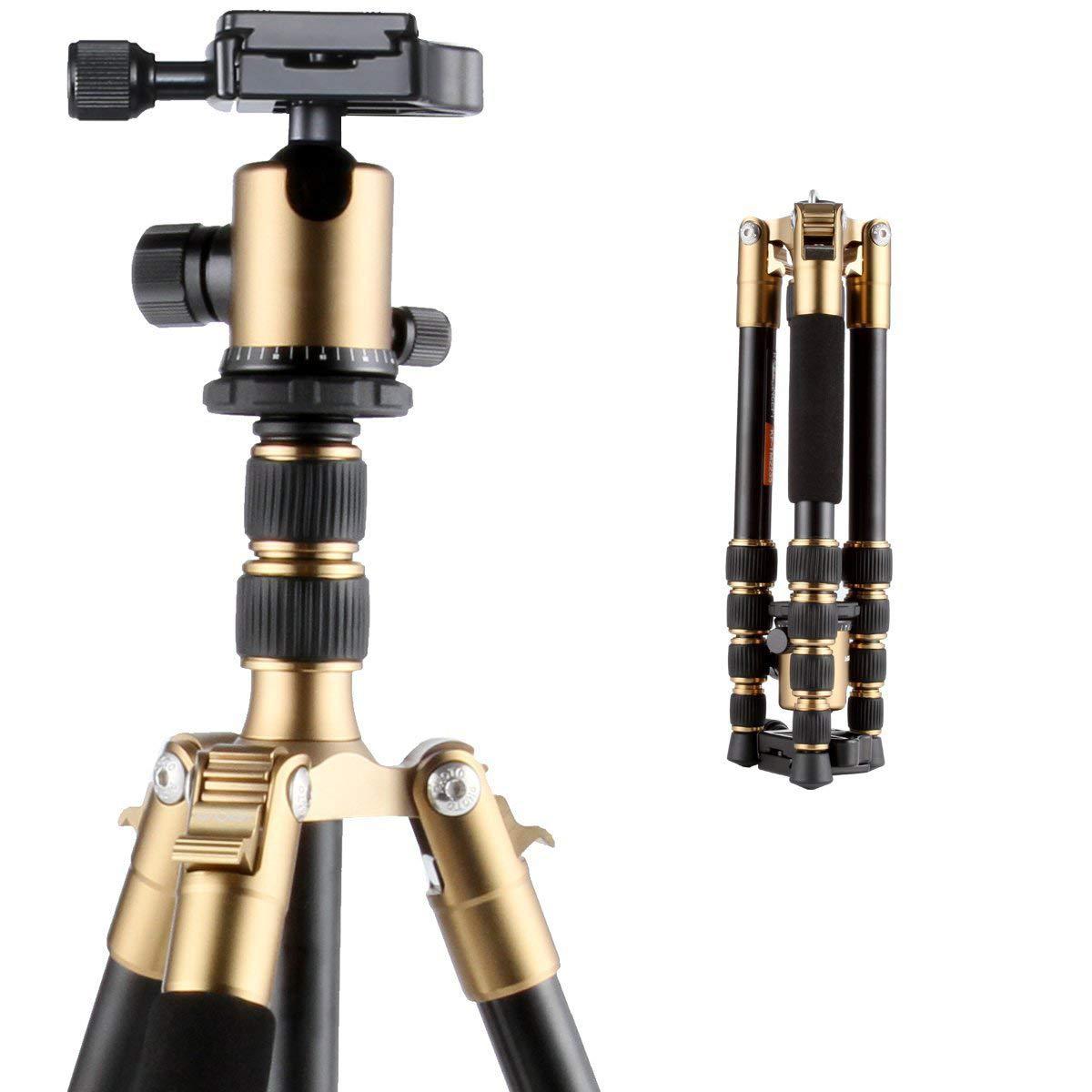 DZSM El magnesio-Aluminio trípode Kit de cámara con líquido Cabeza ...