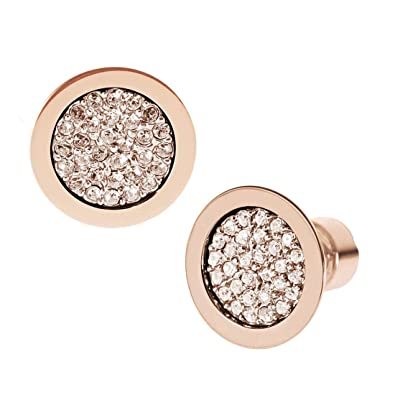 dbf2ce8c1adee8 Amazon.com: Michael Kors MKJ2743 Brilliance Rose Gold Pave Stud Earrings:  Jewelry
