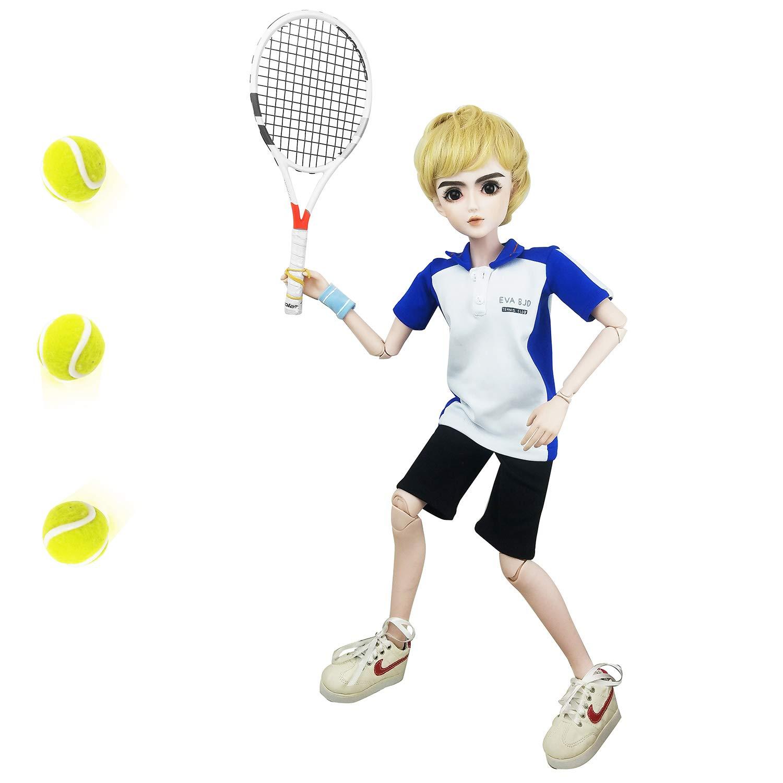 大特価!! EVA BJD ドール 24インチ 24インチ 1/3フルセット ドール + テニス 男の子 1/3フルセット ジョイントドール+シャツ + パンツ + ヘア+ギフト テニスラケット + ギフトシューズ + テニスボール 3個 B07GL2GGTZ, HEADFOOTmixism:737ae141 --- pmod.ru