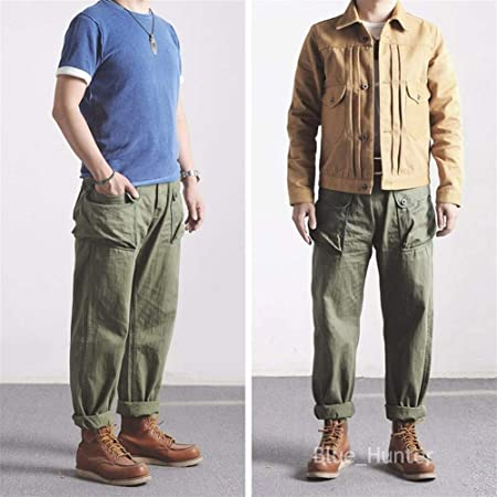 cel mai bun angrosist pret de fabrica bine out x Wind Vintage P-44 Military Pants Pantaloni da Lavoro da Uomo ...