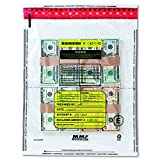 MMF Industries 2362005N20 4 Bundle Capacity Tamper-Evident Cash Bags, 15 x 20, Clear (Box of 250 Bags)