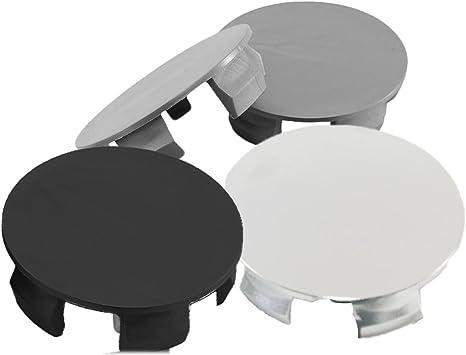 4 Pieces Rim Hub Centre Caps Cover for ALL CARS Wheel Center Caps Universal No Logo 2.52 68mm 64mm // Front 2.68 =HUB Black, /Ø: Back
