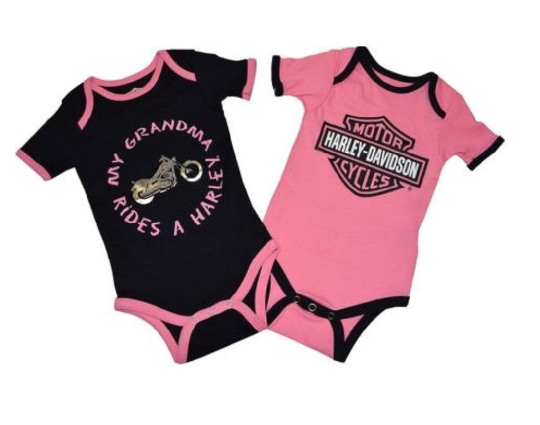 Amazon.com: Harley-Davidson Baby ' Creeper Set, Infant Grandma ...