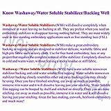 New Brothread Wash Away - Water Soluble Machine