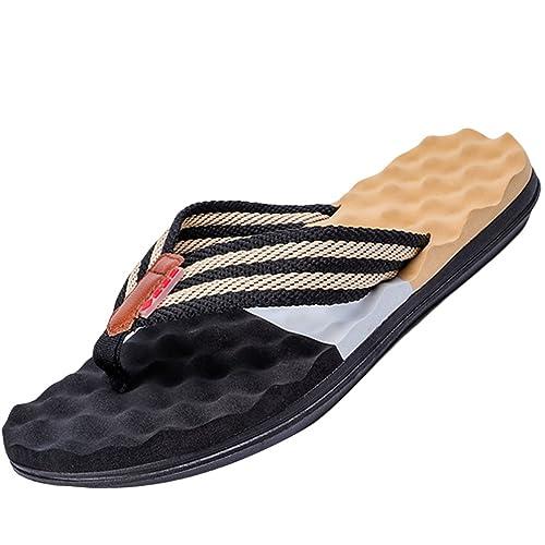 Herren Sommer Strand Zehentrenner Pantoffeln Vintage Pantolette Freizeitsandalen