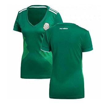 CCLLc México Traje Femenino De Fútbol 2018 Copa Mundial De Fútbol Camisetas De Fútbol De Gran Tamaño Uniforme De Animadoras,L: Amazon.es: Hogar