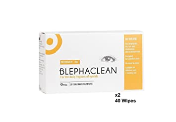 Blephaclean 40 Sterile Eyelid Wipes For Blepharitis