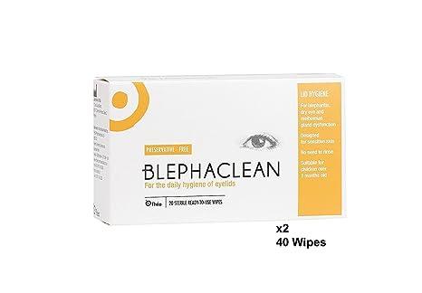 40 Blephaclean Esterilizado Toallitas Para Los Párpados Para La Blefaritis Envío Gratis