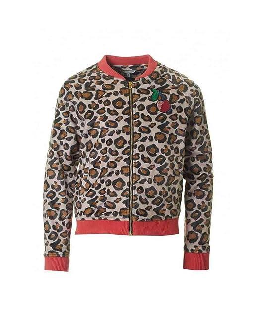 2d363f1f9142 Little Marc Jacobs Girls' Resort-Faux Fur Leopard Jacket with Cherry Patch  (Little