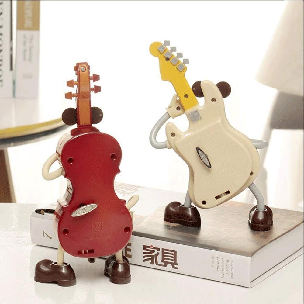 Guitarra Violín Caja de música de Dibujos Animados Hippie ...