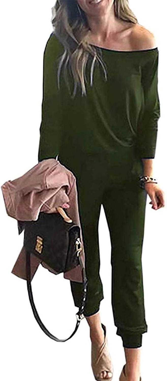 Womens Off Shoulder Short Sleeve Playsuit Ladies Casual Long Trouser Jumpsuit UK