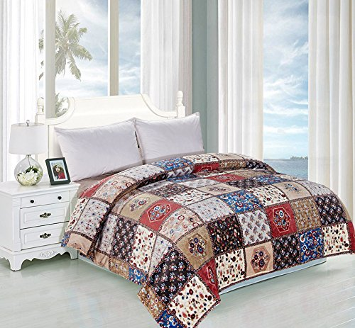 Micromink Flannel Blanket, Bed Throw on Twin Full Queen King