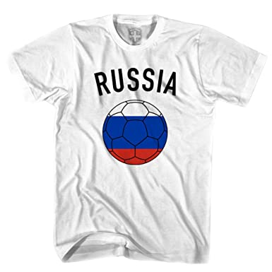 Rusia Camiseta, diseño de balón de fútbol: Amazon.es: Ropa y ...