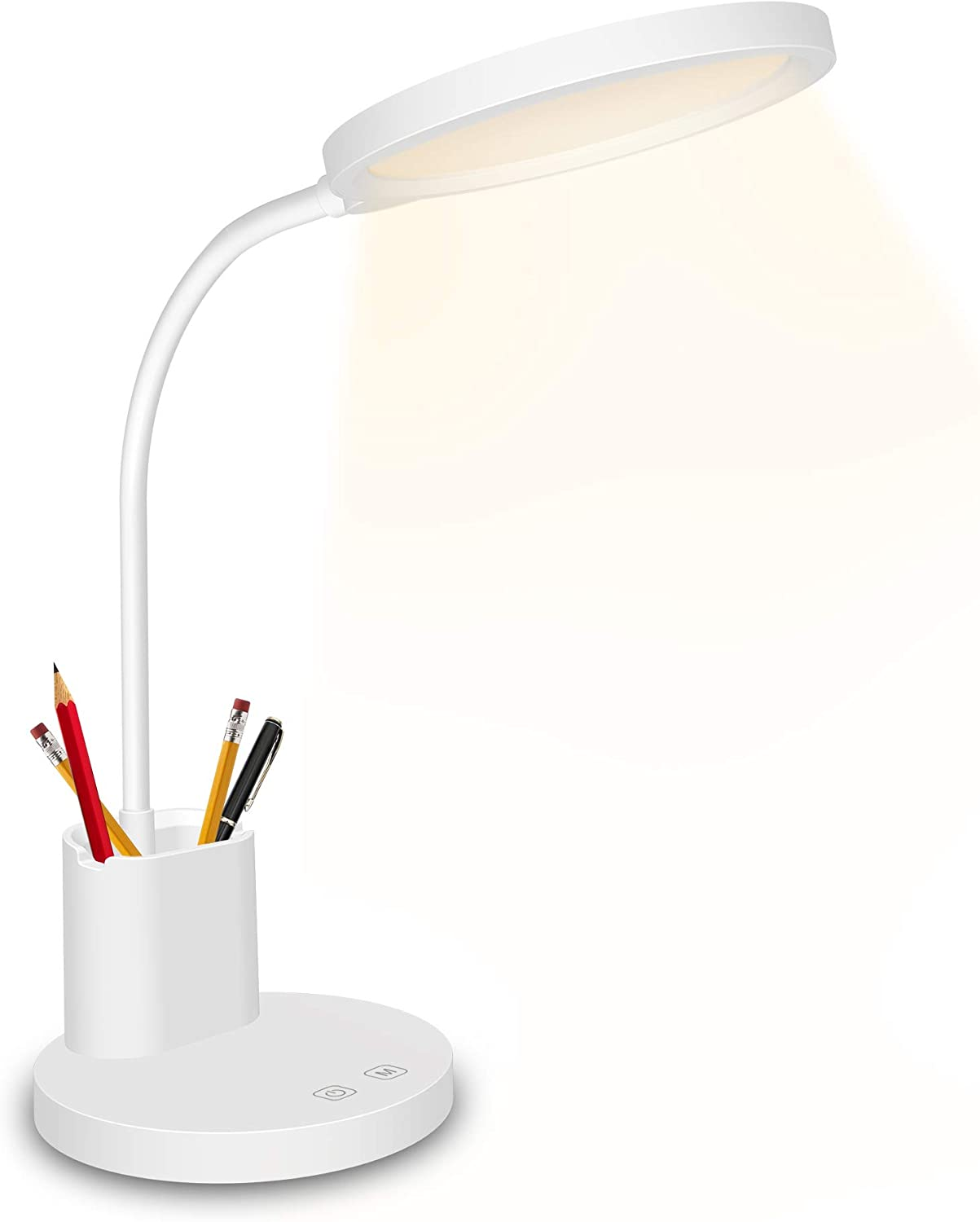 3 Modes Dimmable LED Desk Bedside Reading Lamp Table Flexible Touch Night Light