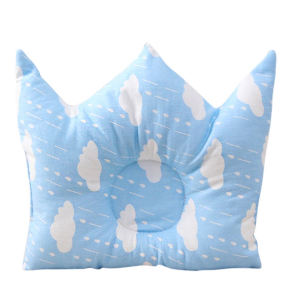 Newborn Baby Infant Pillow Head Shaping Comfortable Sleeping Pillow Plush Crown Shape Protection for Flat Head Syndrome Cute Soft Pillow by Tracfy