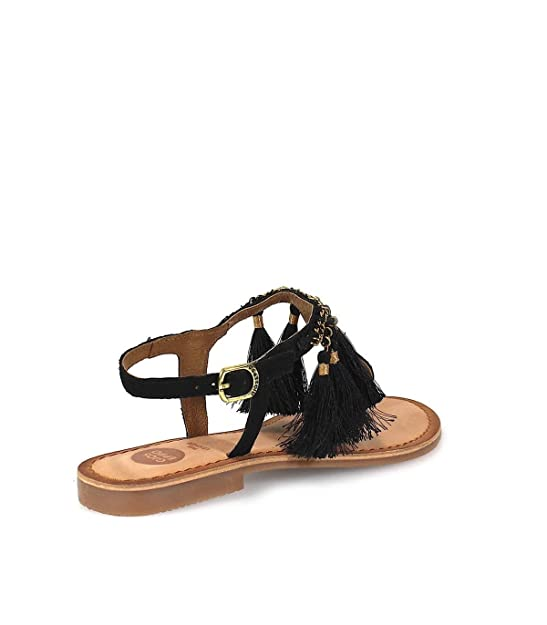 Gioseppo Pompom t-Bar Sandals Tutayan by (40 - Black)