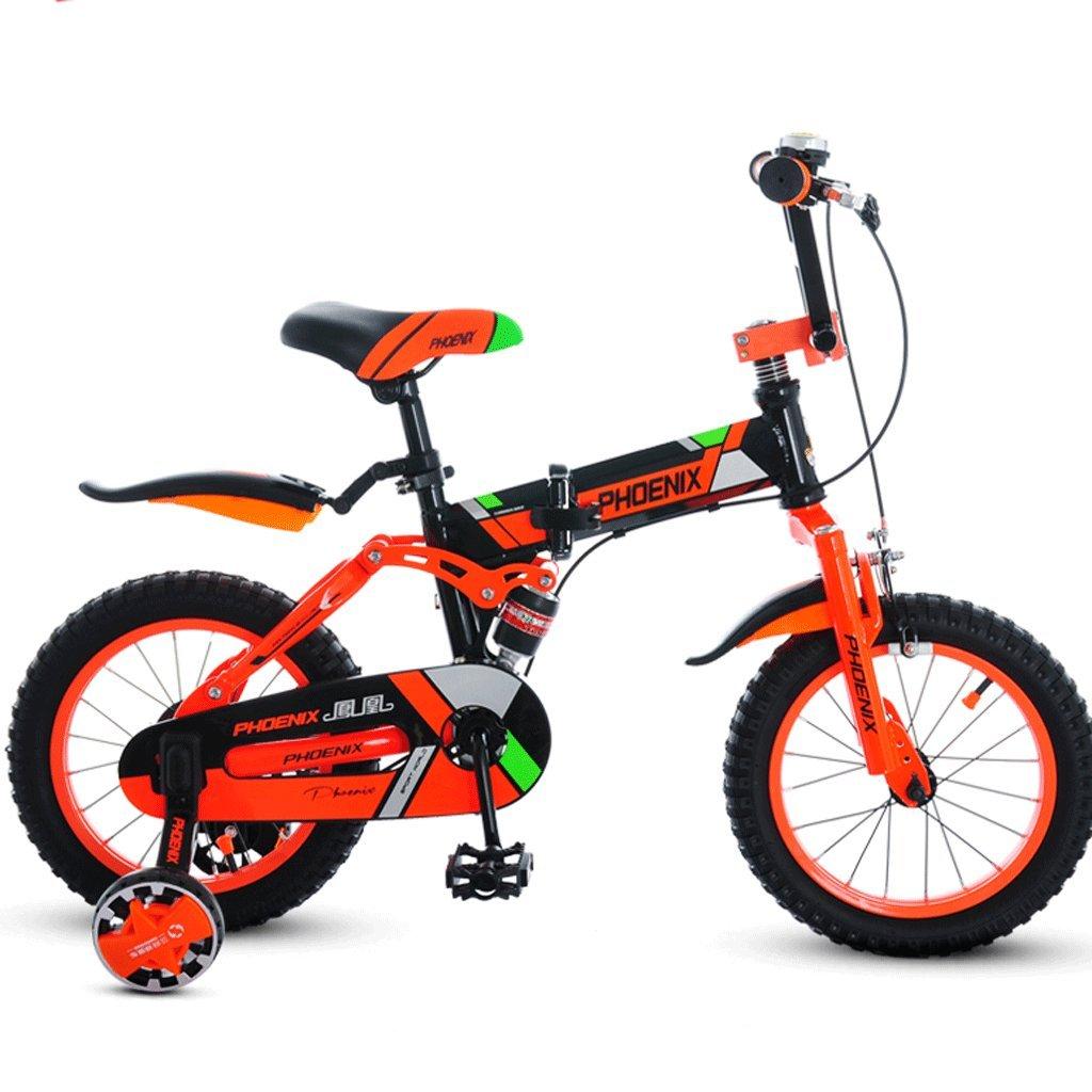 子供の折りたたみ自転車14/16/18インチの男の子サイクリングガール3-12歳のベビーカーの子供のマウンテンバイク (色 : A, サイズ さいず : 16 inches) B07D36TC24 16 inches|A A 16 inches