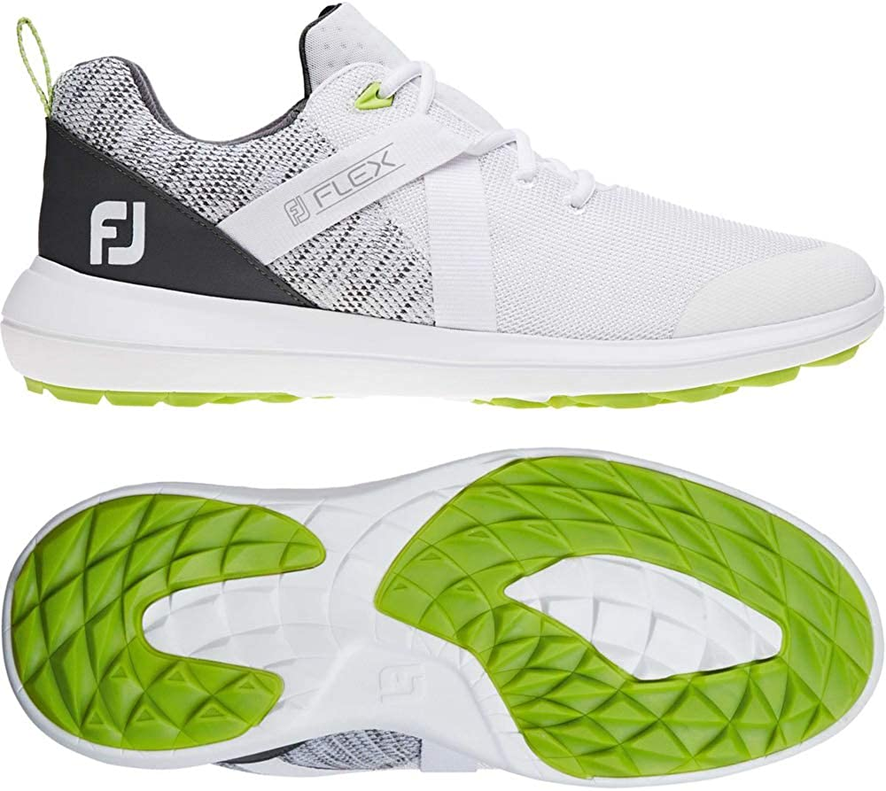 Amazon Com Footjoy Men S Flex Golf Shoes 8 5 Medium White Shoes