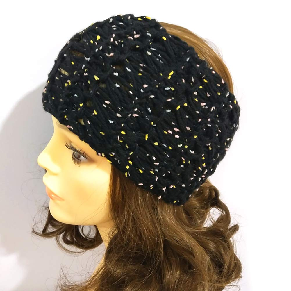 1pc Topless Knitted Hat Cap Women'S Hat-Fashion Hood With Tide Wool Knitted Cap Autumn And Winter Warm Topless Twist Knitting Line Hat To Keep Warm (Black) Cotowin