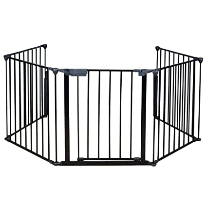amazon com qhyt 25 x 30 fireplace safety fence guard fence cover rh amazon com Gas Fireplace Baby Proofing child safety fence fireplace