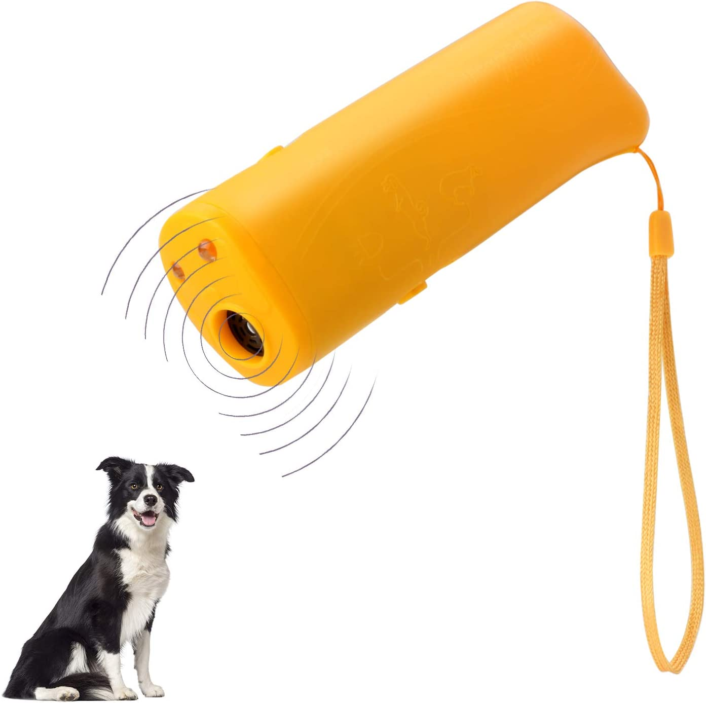 B07D32YTSL POVAD Dog Barking Stop 3 in 1 Anti Ultrasonic Dog Repeller Bark Handheld Dog Trainer Device Safe Pet Training Devices (Yellow) 61maD-g5kQL