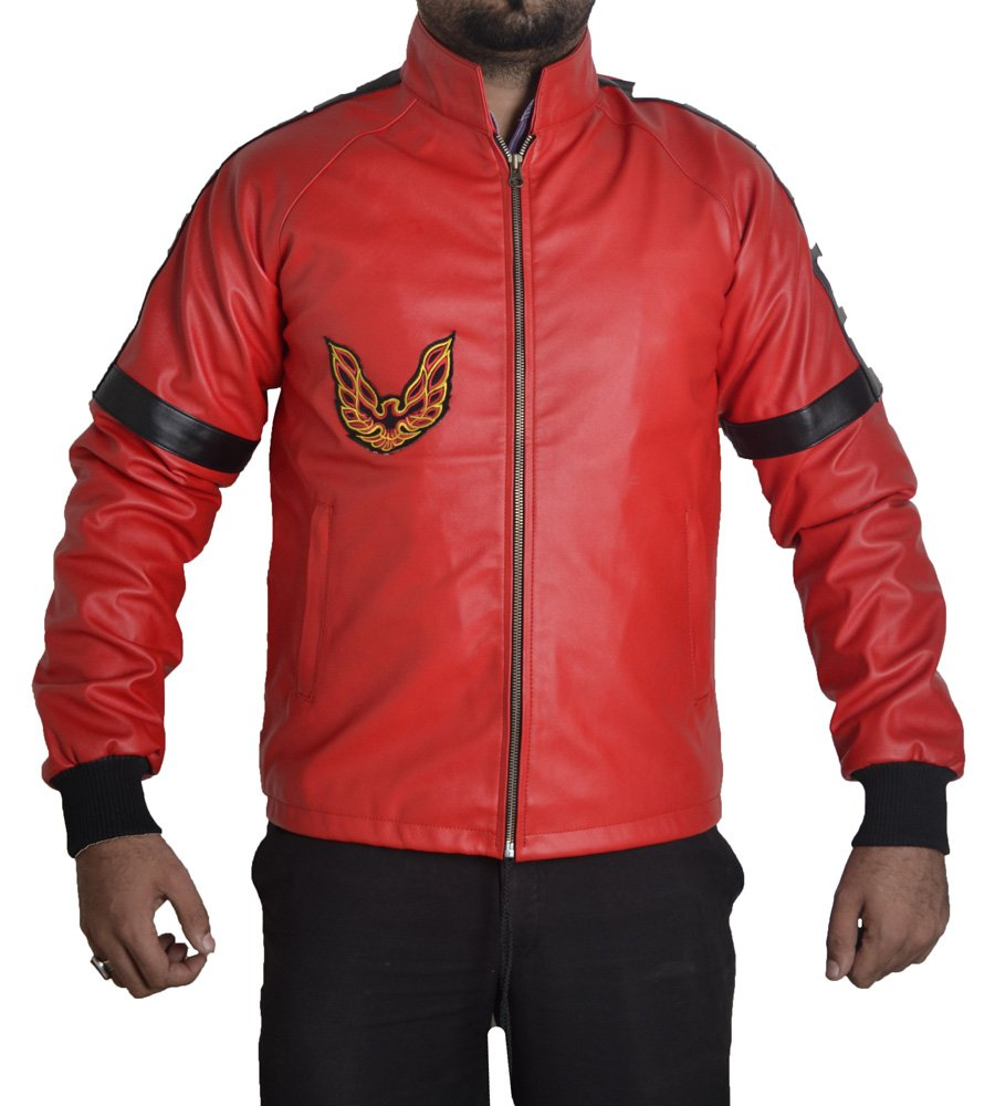 MSHC Smokey and The Bandit Burt Reynolds Red Bomber Leather Jacket (2XL)