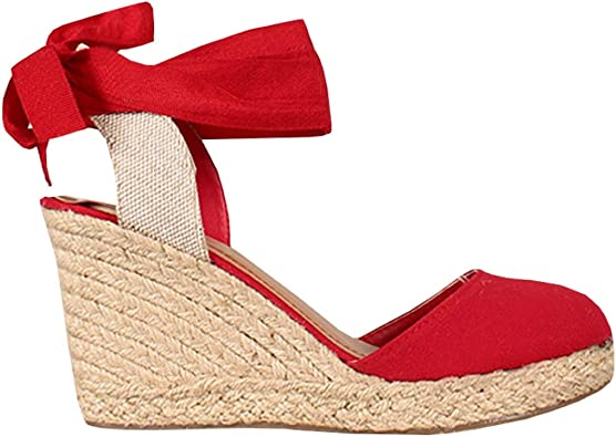 Womens Espadrille Wedge Sandals Closed