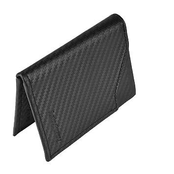 design professionale buon servizio scarpe classiche YRTECH Uomo Portafoglio frontale tasca RFID Blocco portafoglio carta di  credito Slim Leather (fibra di carbonio)