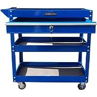 US PRO TOOLS - Carro de herramientas, con ruedas, con cajón de rodamiento de bolas, color azul