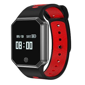 Oasics Smart Watch Sport Fitness Actividad de frecuencia cardíaca Tracker Tensiómetro de reloj, color rojo: Amazon.es: Deportes y aire libre