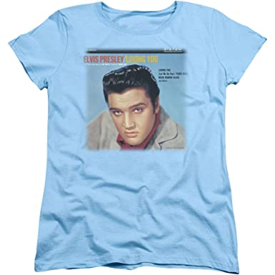 7f81bda5c03 Image Unavailable. Image not available for. Color  Womens  Elvis Presley -  Loving You Soundtrack Ladies T-Shirt Size S