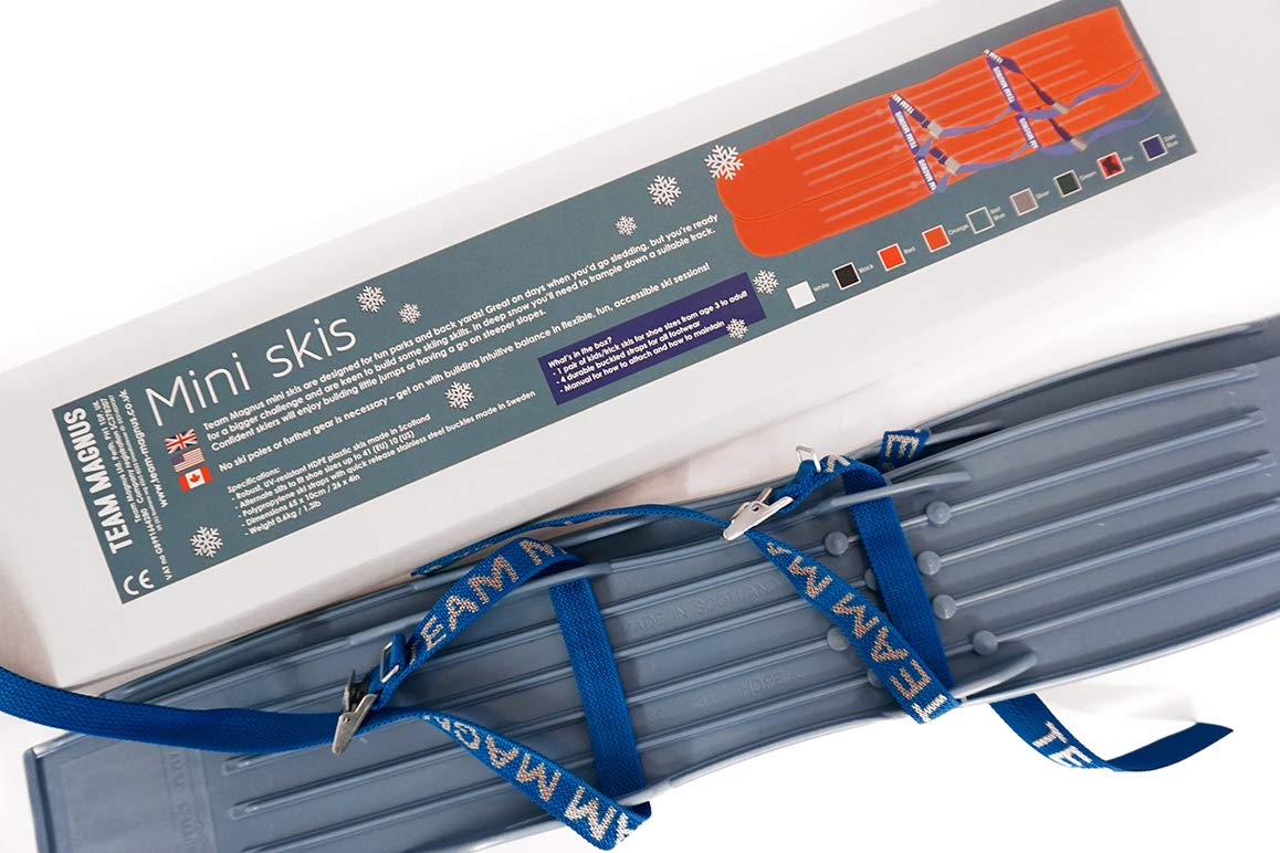 TEAM MAGNUS Snow skis for Kids as Used by USA Nordic /& Ski Jumping Federation Adjust to All Boot Sizes for Skills /& Fun