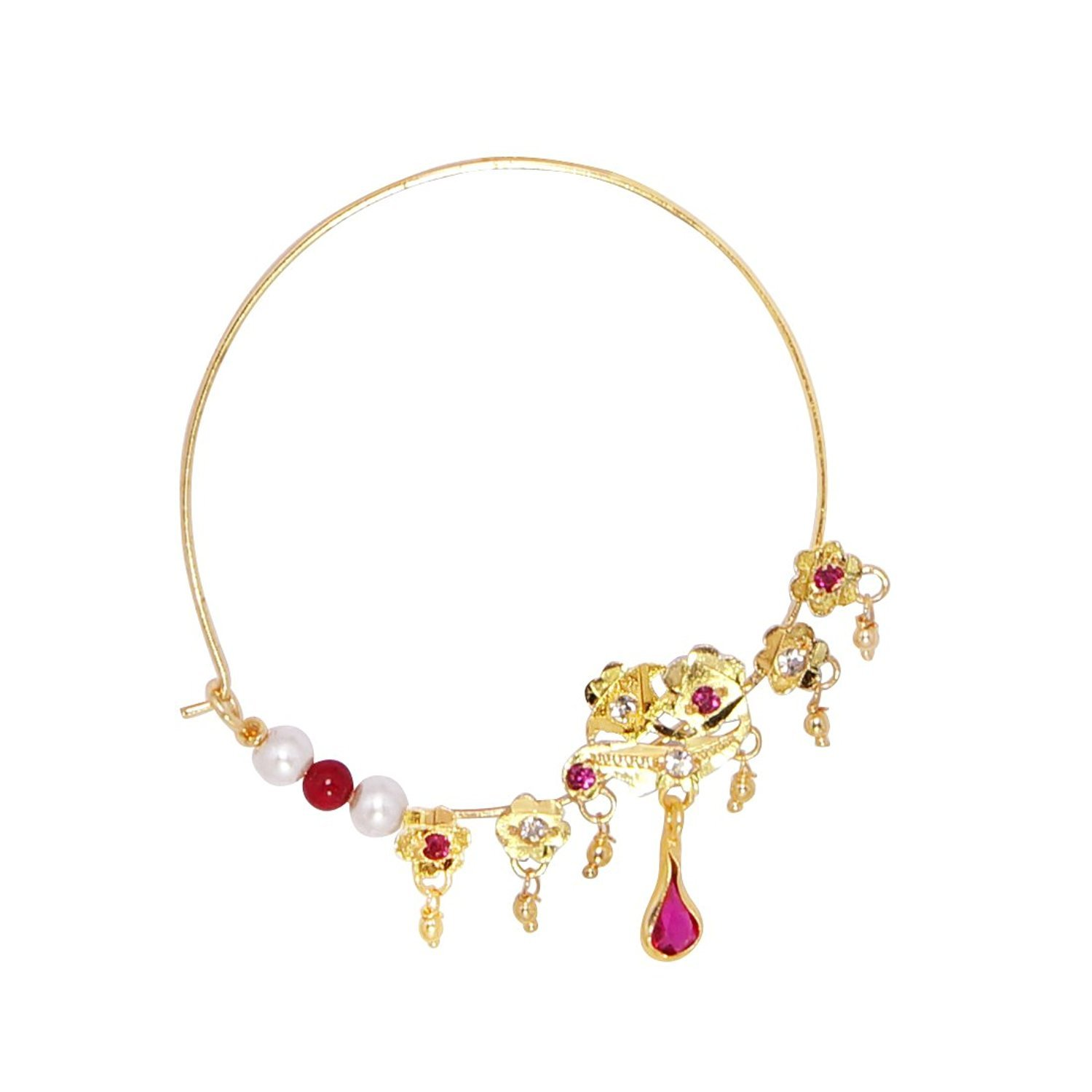 e800bb8e4c97 Buy Jodha Akbar Nose Pin by R S Jewels Online at Low Prices in India ...