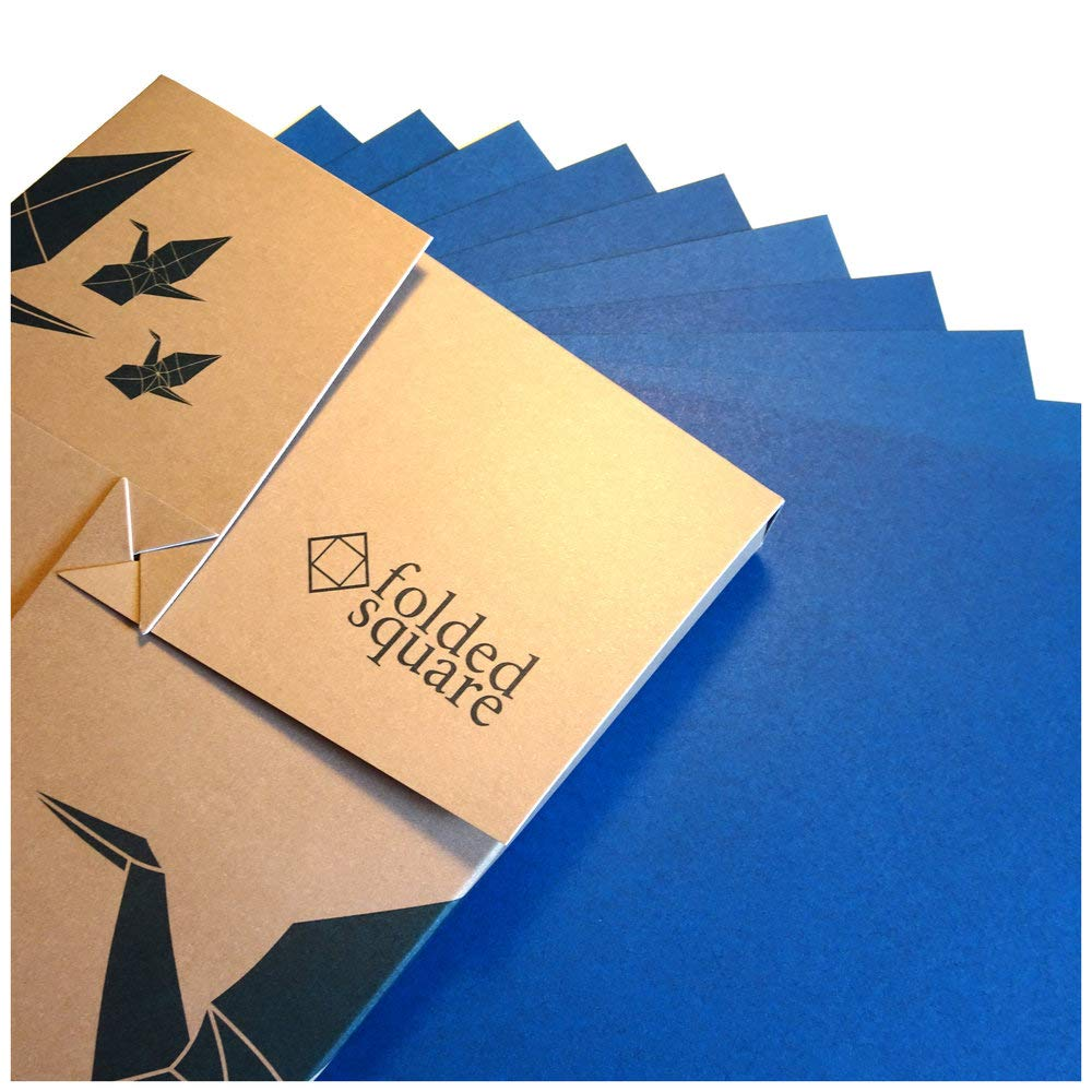 Blue Origami Paper   100 Sheets, 6'' Square   Pantone 301 by folded square