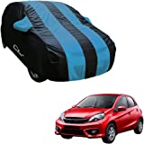 Autofurnish Aqua Stripe Car Body Cover Compatible with Honda Brio - Arc Blue