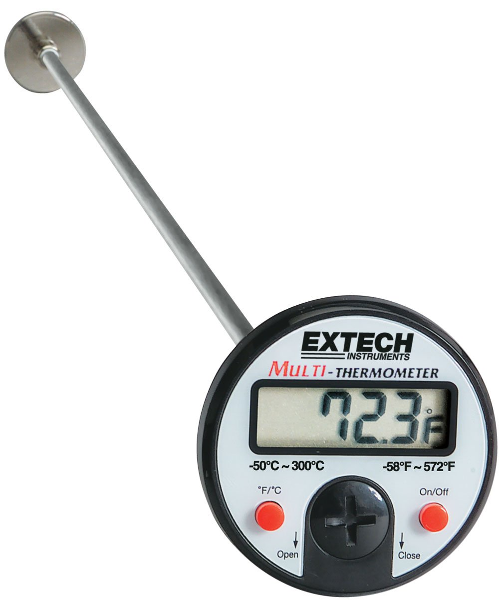 Extech 392052 Flat Surface Stem Dial Thermometer