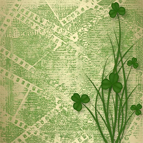 Wedding Plate Invitation (AOFOTO 10x10ft Vinyl Photography Background Shamrock Clover Happy St.Patrick's Day Photographic Plate Backdrop Festival Celebration Family Events Children Portraits Shooting Backcloth Screen Prop)