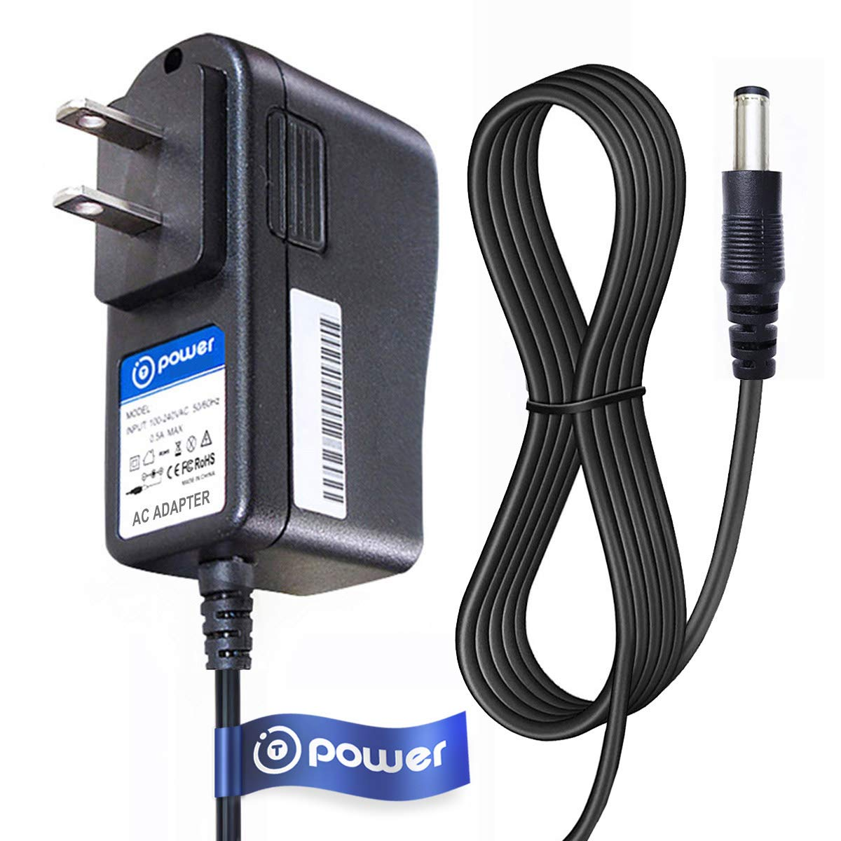 "T-Power Ac Adapter Compatible with 12V DC Adapter Compatible with O2 Cool O2Cool Portable 10"" Cooling Fan 02 Cool 02Cool Charger Power Supply"