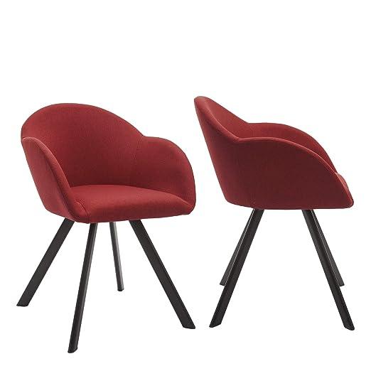 By Demeyere Marc - Juego de 2 sillones Modernos de Tela Gris ...