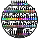 Best Choice Products 5-Tier Tree Silhouette Wall Mounted Nail Polish Rack Holder Display - Black