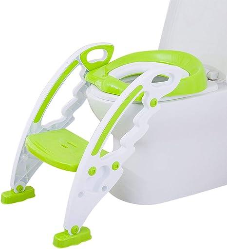Bieco Asiento de inodoro plegable para niños, asiento de inodoro con escalera, asiento de inodoro para niños de entrenamiento para niños: Amazon.es: Bebé