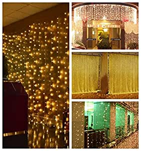 Amazon.com: Lightess 300 LED String Fairy Light Curtain Lights 8 Mode Outdoor/Indoor Use For ...
