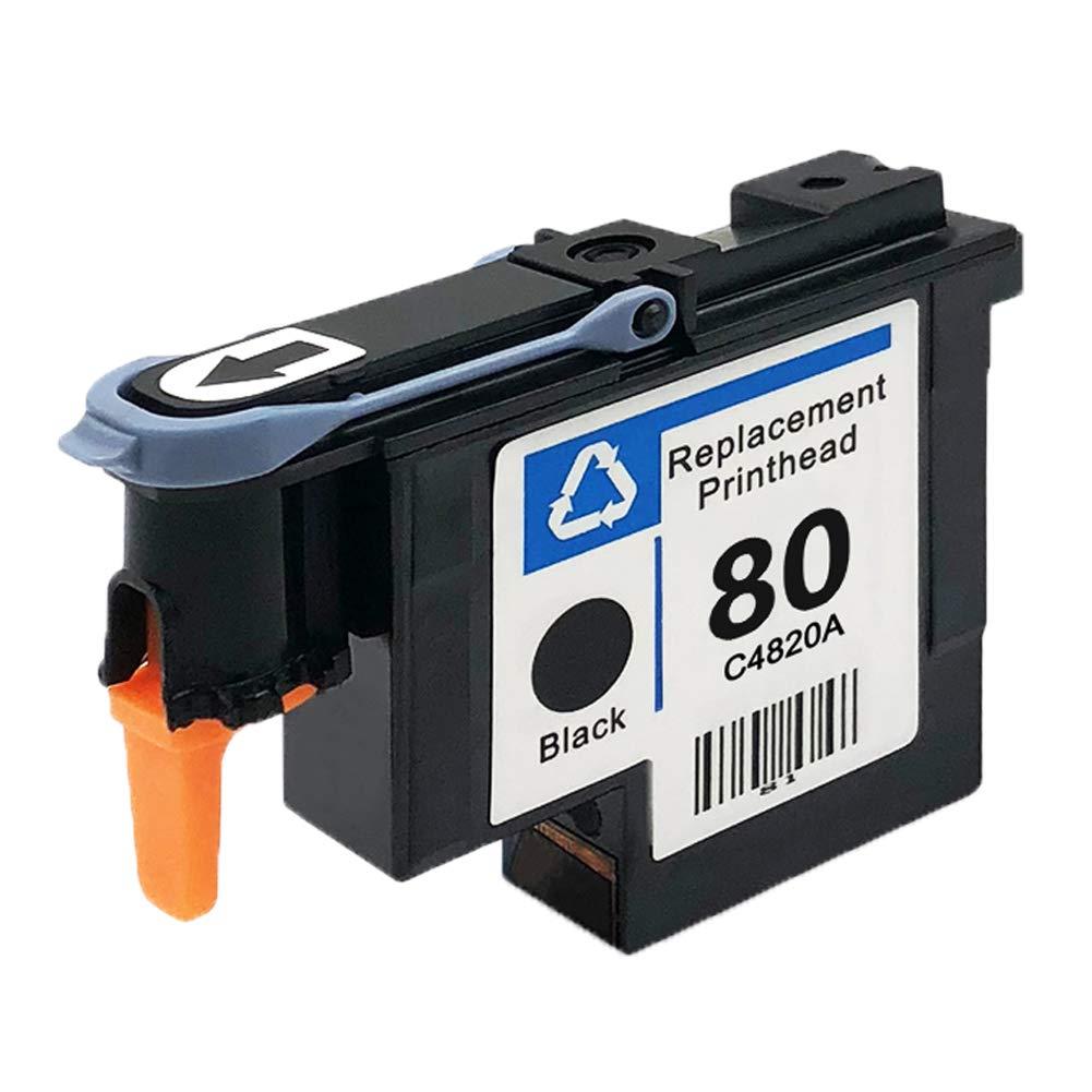 Teng/® 1 x Compatible con Cabezal de impresi/ón HP 80 Impresora HP Designjet 1050 C 1050 C Plus 1055 CM 1055 CM Plus-1 Negro