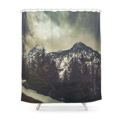 Society6 Alpine Twin Peaks Shower Curtain 71quot