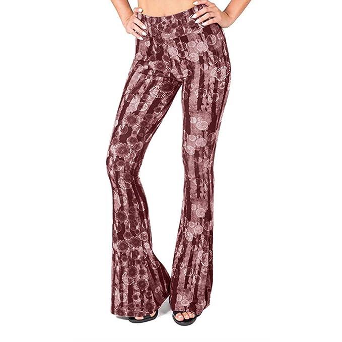 RISTHY Pantalones Yoga de Piernas Anchas Tiro Regular ...
