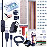 For Raspberry Pi 3 Kuman Complete Starter Kit - 32 GB Edition with 2.5A Power Supply Micro USB Cable with Switch, Breadboard T-type GPIO Board, 40 Pin Ribbon Cable, Jumper Wires, Heat sinks, HDMI, Screwdriver Push Buttons project kit K74