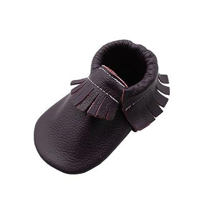 8303a9aa03dfd YIHAKIDS Chaussures Bébé Chaussons Cuir Souple Bébé Fille Garçon Frange  Chaussures