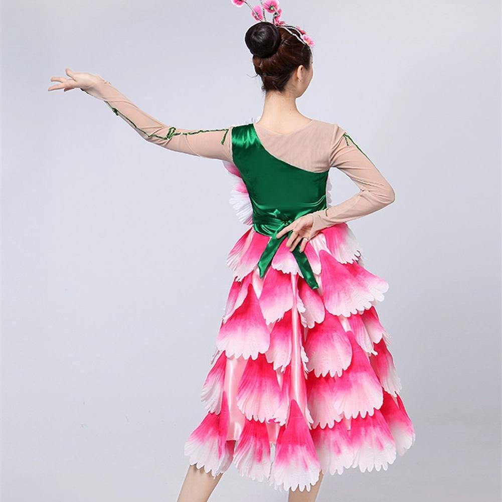 Byjia Frauen Opening Tanzkleider Double Sleeve Grünes Blatt Blatt Blatt Blütenblätter Flamenco Rock Modern Up Stage Short Big Swing Performance Chorus B07167VD5H Bekleidung Haltbarer Service e1fbc3
