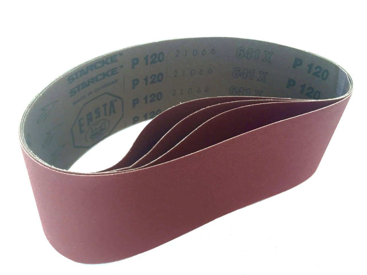 "12 Zirconia 60 grit 1//2/"" x 18/"" Cloth Abrasive Belts Air File Germany"