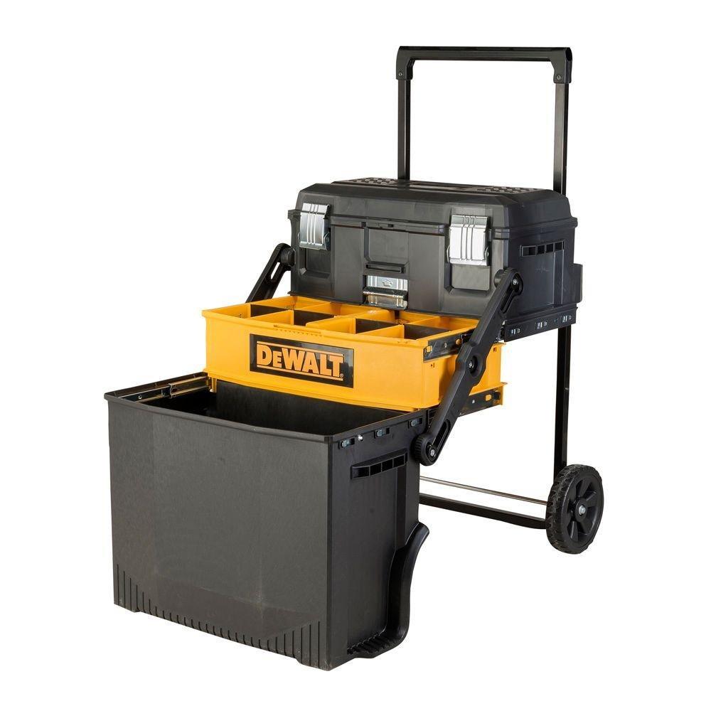 DEWALT 16 in. 88 lbs. Rolling Cantilever Tool Box, Black